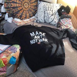 Late Obey Make art not war hoodie